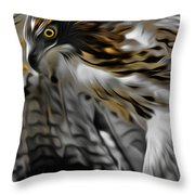 I Am Redtail Square Throw Pillow by Bill Wakeley