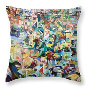 I believe this and understand it fully well 13 Throw Pillow by David Baruch Wolk