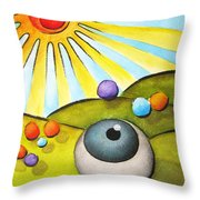 I Can See Clearly Now Throw Pillow by Oiyee  At Oystudio