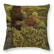 I Filari In Autunno Throw Pillow by Guido Borelli