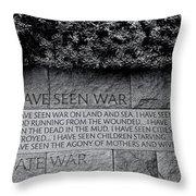 I Hate War Throw Pillow by Allen Beatty