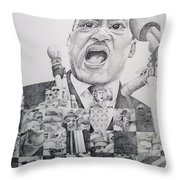 I Have A Dream Martin Luther King Throw Pillow by Joshua Morton
