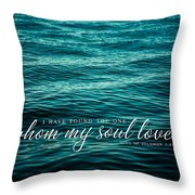 I Have Found The One Whom My Soul Loves. Throw Pillow by Lisa Russo