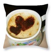 I Love You. Hearts In Coffee Series Throw Pillow by Ausra Paulauskaite