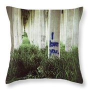 I Love You Throw Pillow by Trish Mistric
