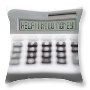 I Need Money Throw Pillow by Michal Boubin