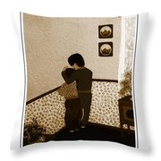 I Stay Wif You Throw Pillow by Barbara Griffin