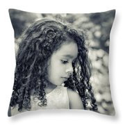 I Wonder... Throw Pillow by Evelina Kremsdorf
