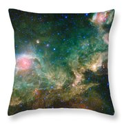 Ic 2177-seagull Nebula Throw Pillow by Science Source