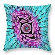 Ice Dragon Eye Throw Pillow by Anastasiya Malakhova