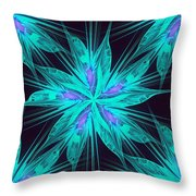 Ice Flower Throw Pillow by Anastasiya Malakhova