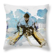 Ice Hockey Throw Pillow by Corporate Art Task Force