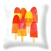 Ice Lollies Throw Pillow by Nic Squirrell