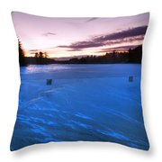 Icy Sunset Throw Pillow by Joann Vitali