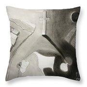 If Not Left In Gods Hands Throw Pillow by Peter Piatt