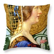 If One Could Have That Little Head Of Hers Throw Pillow by Eleanor Fortescue Brickdale