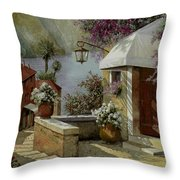 Il Lampione Oltre La Tenda Throw Pillow by Guido Borelli