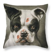 I'm A Bad Dog What Kind Of A Dog Are You Circa 1895 Throw Pillow by Aged Pixel