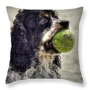 I'm Ready To Play Throw Pillow by Benanne Stiens