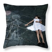 Imaginary Friend Throw Pillow by Joana Kruse