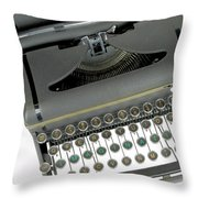 Imagination Typewriter Throw Pillow by Rudy Umans