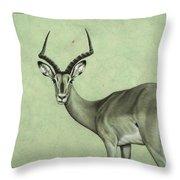 Impala Throw Pillow by James W Johnson