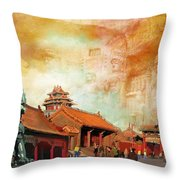 Imperial Palaces Of The Ming And Qing Dynasties In Beijing And Shenyang Throw Pillow by Catf