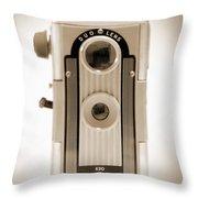 Imperial Reflex Camera Throw Pillow by Mike McGlothlen