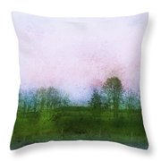 Impressionistic Style Of Trees Throw Pillow by Roberta Murray
