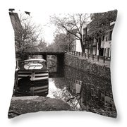 In Georgetown Throw Pillow by Olivier Le Queinec