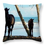 In Her Image Throw Pillow by Karen Wiles