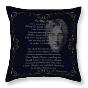 In My Life Golden Scroll Throw Pillow by Movie Poster Prints