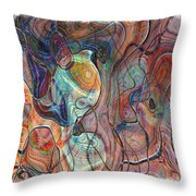 In My Minds Eye Throw Pillow by Susan Leggett