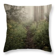 In Silence Throw Pillow by Amy Weiss