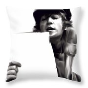 In Studio John Lennon Throw Pillow by Iconic Images Art Gallery David Pucciarelli