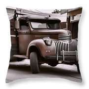 In The Alley Throw Pillow by Ken Smith