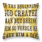 In the Beginning... Throw Pillow by Debbie DeWitt