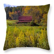 In The Heart Of Autumn Throw Pillow by Debra and Dave Vanderlaan