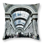 In The Louvre  Throw Pillow by Marianna Mills