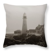 In The Mist Throw Pillow by Joann Vitali