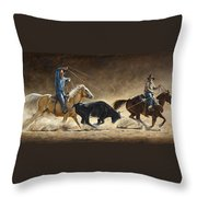 In The Money Throw Pillow by Kim Lockman