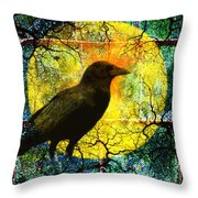 In The Night Throw Pillow by Nancy Merkle