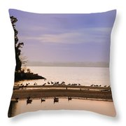 In The Quiet Morning Throw Pillow by Bill Cannon