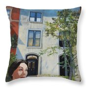 In The Way Of Spindrift Jan Bryant Bartell Throw Pillow by Barbara Barber
