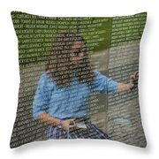 In Touch With The Past Throw Pillow by Christi Kraft