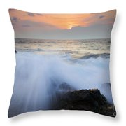 Incoming Throw Pillow by Mike  Dawson