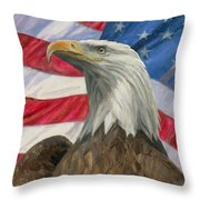 Independence Day Throw Pillow by Gregory Doroshenko