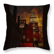 Independence Hall Philadelphia Let Freedom Ring Throw Pillow by Jeff Burgess