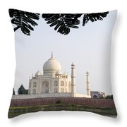 India, Temple Burial Site Seen Throw Pillow by Bill Bachmann
