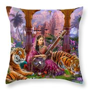 Indian Harmony Throw Pillow by Jan Patrik Krasny